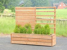 Pflanzkasten Holz Mit Rankgitter Spalier Sichtschutz Länge 212 Cm Oberfläche Pflanztrog