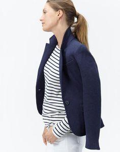 Olivia Navy Jersey Blazer | Joules UK