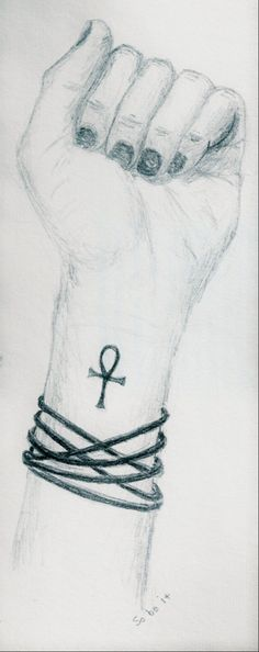 Ankh Tattoo drawing. I'd really love to get this someday.