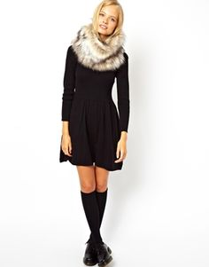 Image 3 of ASOS Faux Fur Funnel Snood