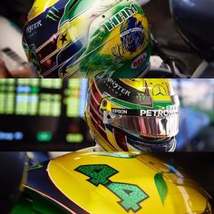 """Olha que legal o capacete que @lewishamilton vai usar no Grande Prêmio do Brasil: a peça faz uma homenagem a Ayrton Senna e ao nosso país! O capacete é uma criação da empresa belga @bellhelmetseurope. """"For Ayrton. For Brazil. """"  Declarou o piloto da @MercedesAMGF1  Mandou bem!  #CarroEsporteclube  #BrazilGP #mercedesbenz #f1"""