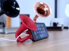 iAcoustic S: iPhone 5 Minimized Gramophone by abite on Shapeways