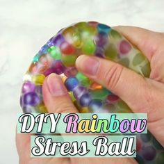 DIY Rainbow Stress Ball DIY Rainbow Stress Ball,Craft Videos Stressed out? This rainbow ball is exactly what you need. Related posts:Treibholz: 21 DIY-Inspirationen, um es in Ihre Dekoration zu integrierenPaper Snowman. Kids Crafts To Sell, Diy Crafts For Girls, Diy Crafts Hacks, Diy Home Crafts, Easy Diy Crafts, Creative Crafts, Diy For Kids, Craft Ideas For Teen Girls, Cute Diys For Teens