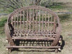 Maine Made Rustic Cedar Settee