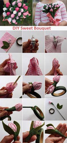 DIY Sweet Bouquet Spring Flowers