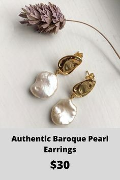 Details about  /Victorian Freshwater Pearl Earrings Delicate Vintage Inspired Bridal Jewelry