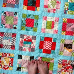Basic Nine Patch Quilt Pattern | Vintage Nine-Patch Quilt , a photo by jenib320 on Flickr.