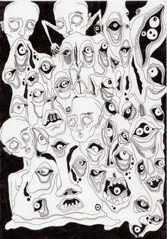 My name is Tealie. Creepy Art, Weird Art, Art Sketches, Art Drawings, Arte Sketchbook, Hippie Art, Pics Art, Psychedelic Art, Horror Art
