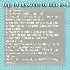 Reasons to join!