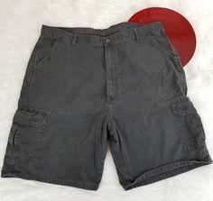 Wrangler Mens Cargo Shorts Size 42 Gray 9.5 Inseam Soft 100% Cotton o328 #Wrangler #Cargo