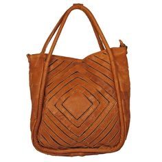 Gorgeous leather bag cut-out design.: