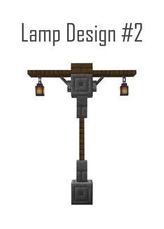 Medieval Street Lamp Design - Mine Minecraft World Minecraft Lampe, Minecraft Bauwerke, Construction Minecraft, Minecraft Building Guide, Minecraft Mansion, Easy Minecraft Houses, Minecraft Medieval, Minecraft House Designs, Minecraft Decorations
