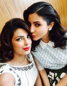 Priyanka Chopra and Anushka Sharma promoting 'Dil Dhadakne Do' in Dubai. Bollywood Stars, Bollywood Fashion, Bollywood Images, Indian Celebrities, Bollywood Celebrities, Bollywood Actress, Actress Priyanka, Celebrities Fashion, Anushka Sharma Virat Kohli