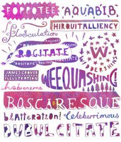 Lost Words - James Grover | Freelance Illustrator Exeter, UK