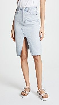 New AGOLDE The 90's Split Skirt online. Find the  great Knot Sisters Clothing from top store. Sku rzqw11563qjci82735