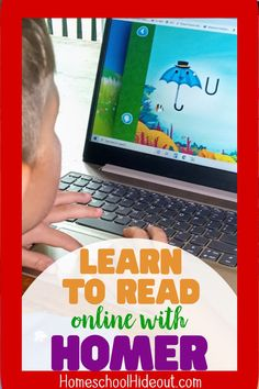 Bear is loving that he can learn to read online while the big kids do school and I love that it's teaching him to read, without breaking the bank!