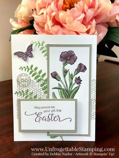 Unfrogettable Stamping | Fabulous Friday CASEd Easter card featuring the Butterfly Basics and Suite Sentiments stamp sets by Stampin' Up!
