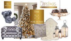 Διαμορφώνουμε το σπίτι μας για τις πιο glamorous γιορτές και όχι μόνο. Έπιπλα και διακοσμητικά τα οποία θα δώσουν μια αστραφτερή, πολυτελή και ζεστή εμφάνιση για τα Χριστούγεννα και για όλοκληρο το χειμώνα. Γούνα, καθρέφτης, χρύσο και ασήμι μπλέκονται όμορφα και... Home Collections, Christmas Home, Glamour, Interior Design, Nest Design, Home Interior Design, Interior Designing, Home Decor, The Shining