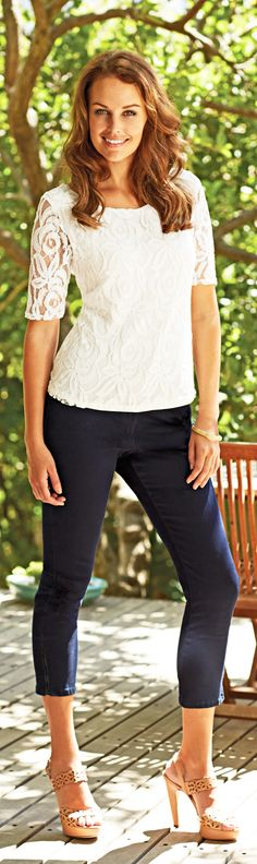 How to wear lace trend the new way - photo simply be prshots - pin now read later at http://boomerinas.com/2012/11/how-to-wear-lace-trend-for-women-over-40-50-60/