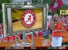 WSU Flag at ESPN College Gameday