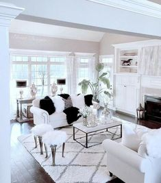 This white/greige/gray neutral-loving girl also crushes on black and white. I was feeling the need for some leopard, some… Living Room Inspiration, Home Decor Inspiration, Furniture Inspiration, Rooms Home Decor, Living Room Decor, Living Room Designs, Living Spaces, Living Area, Living Rooms