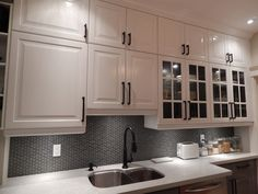 IKEA Kitchens - Lidingo Gray and White with Stacked Wall Cabinets traditional-kitchen Ikea Kitchen Wall Cabinets, Kitchen Cabinets And Worktops, Kitchen Furniture, Modern Furniture, Rustic Kitchen, New Kitchen, Kitchen Decor, Kitchen Design, Ikea Kitchen Planning