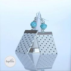Rockabilly earring, perfect for summer outfits, festival or just to cheer up your day. Handmade Jewelry, Unique Jewelry, Handmade Gifts, Cheer Up, Blue Earrings, Statement Jewelry, Rockabilly, Crowd, Etsy Seller