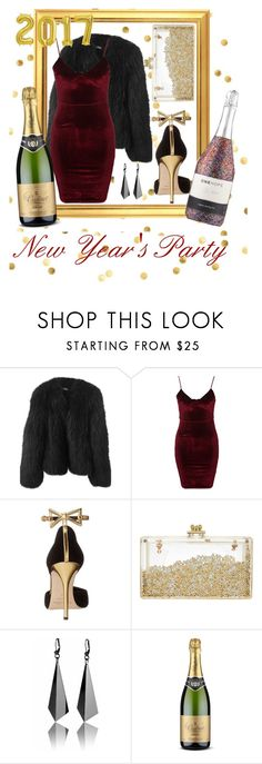 """New Year's Party"" by nikkey23 ❤ liked on Polyvore featuring Balenciaga, Glamorous and Oscar de la Renta"