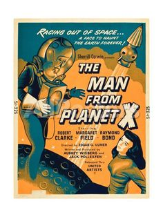 The Man From Planet X, Pat Goldin, Margaret Field, 1951 Movies Art Print - 46 x 61 cm