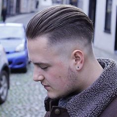 Thick Slicked Back Undercut - Best Men's Hairstyles: Cool Haircuts For Guys Mens Slicked Back Hairstyles, Slick Hairstyles, Undercut Hairstyles, All Back Hairstyle, Ladies Hairstyles, Men's Hairstyles, Wedding Hairstyles, Medium Hair Cuts, Medium Hair Styles