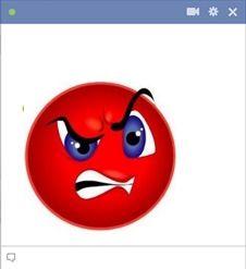 Emoticone faché colere emoticon Facebook émoticones