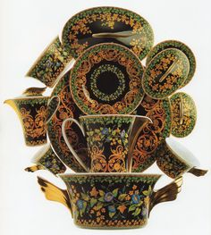 "Versace ""Gold ıvy""  Paul Wunderlich, design:Gianni Versace, Rosenthal (Erdinç.Bakla archive)"