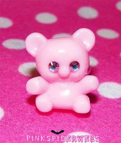 Pink Kawaii Teddy Bear Ring by Pinkspiderwebs on Etsy