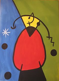 Joan Miro- art project..(.like this one)