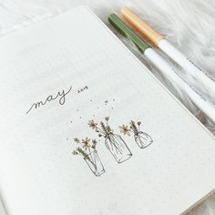 If you're looking for cover page inspirations or May theme ideas for your upcoming bullet journal setup, keep on reading. Bullet Journal Month, Bullet Journal Cover Page, Bullet Journal Notebook, Bullet Journal Ideas Pages, Bullet Journal Layout, Bullet Journal Inspiration, Journal Pages, Bullet Journal Junkies, Bullet Journal Spread