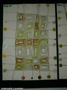 quadrillage et carrés intérieurs