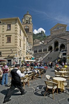 Piazza Duomo, Amalfi Coast, Italy. Ate at this restaurant