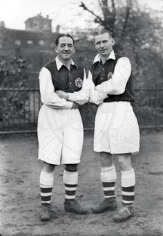 Two legends to Arsenal Football Club,  Alex James and Cliff Bastin, 1936