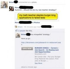 Funny pictures about Smartass teacher gets owned by student. Oh, and cool pics about Smartass teacher gets owned by student. Also, Smartass teacher gets owned by student photos. Stupid Funny, Funny Jokes, Funny Stuff, Stupid Man, Stupid People, Funny Fails, Random Stuff, Funny Photos, Best Funny Pictures