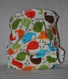 NEW Medium Fitted Cloth Diaper with Zorb II Insert by CheekyBunz, $17.00