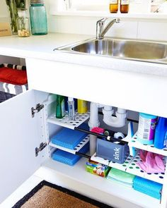 16 Trendy Bathroom Vanity Organization Under Sink Organizing Ideas Bathroom Vanity Organization, Small Space Organization, Bathroom Storage, Kitchen Organization, Kitchen Storage, Organization Ideas, Laundry Storage, Closet Organization, Closet Storage