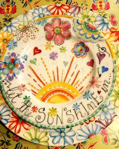 ANI ALONSO Pottery Painting, Ceramic Painting, Ceramic Artists, Mccoy Pottery, Ceramic Pottery, Ceramic Clay, Ceramic Plates, China Clay, Sharpie Art