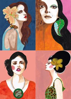 love peggy wolf's painted ladies