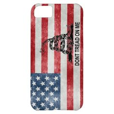 iPhone 5 USA Flag Military Don't Tread on Me Case iPhone 5C Case