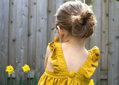 yellow dress ruffle