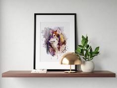 #WolfHead #WatercolorAnimals #InstantDownload #Etsy Watercolor Paintings Of Animals, Watercolor Portraits, Animal Paintings, Insects For Sale, Wildlife Decor, Lol Dolls, Art Market, Printing Services, Fine Art Prints