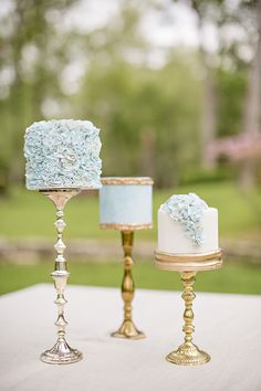 2015 Wedding Trends - Coco Wedding Venues and Katrina Otter Weddings & Events. Naked Wedding Cake, Mini Wedding Cakes, Mod Wedding, Blue Wedding, Wedding Colors, Elegant Wedding, Seaside Wedding, Spring Wedding, Pretty Cakes