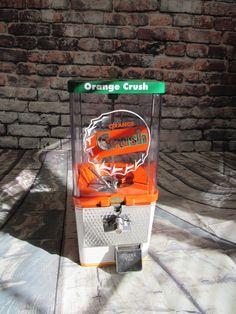 Orange crush gumball/ candy machine