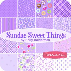 Fabric options for Addie's quilt: Sundae Sweet Things Fat Quarter Bundle Holly Holderman for Lakehouse Dry Goods - Fat Quarter Shop