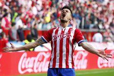 El golazo de Sergio Alvarez pone el sello a la permanencia del Sporting en primera Football, Sports, Tops, Stamps, Soccer, Hs Sports, Futbol, American Football, Sport